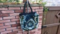 蚊帳 あじさいバッグ 完成 - 古布や麻の葉
