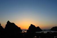 天草西海岸の夕日。 - 青い海と空を追いかけて。