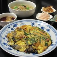 ネギと牡蠣のチヂミ/ハーフ&ハーフ - Mme.Sacicoの東京お昼ごはん