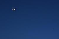 月と金星 - 立川は Ecoutezbien  えくてびあん