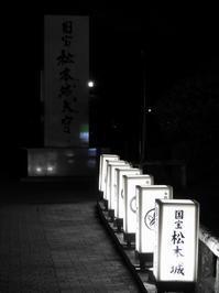 松本そぞろ歩き:夜の松本城 - 日本庭園的生活