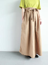 blurhmsGauze Two-way Wide Culotte / Beige (LADIES ONLY) - 『Bumpkins putting on airs』