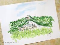 ラ・ロッシュ・ギヨン城を - わたしの足跡2