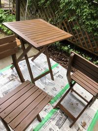 ガーデンセットのペイントと紫色のスイートピー - refresh-3