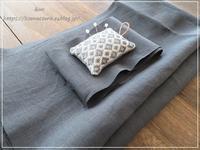 【ハンドメイド 洋服】天使のリネンでラップスカート作ります** - &m   handmade with linen,cotton...