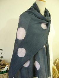 絞り染めストール(縫い絞り) - アトリエひなぎく 手織り日記