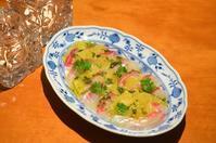 鯛と美生柑のカルパッチョ木の芽ソースがけ - まほろば日記