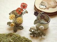 草木染め:野の花コサージュ、たくさん - Chi・Chiのてしごと日和