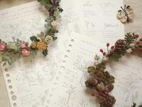 「野の花コサージュ」リースと作りかた - Chi・Chiのてしごと日和
