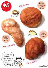【名古屋/今池】中屋のドーナツ3種【なんておいしいあんドーナツなのでしょうか】 - 溝呂木一美の仕事と趣味とドーナツ