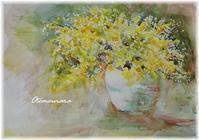 黄色の花の絵&English Lesson4.20 - 日々楽しく ♪mon bonheur
