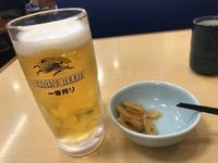 上天丼の小盛り&生ビール(てんや) - よく飲むオバチャン☆本日のメニュー