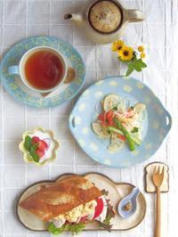 バゲットサンドの朝ごはん - 陶器通販・益子焼 雑貨手作り陶器のサイトショップ 木のねのブログ