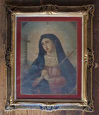 悲しみの聖母 マーテルドロローサ 宗教画 37.5cm×44.5cm / F213 - Glicinia 古道具店