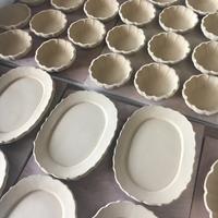 ◾️リム皿と花型の器◾️ - アトリエ モ・ノ・ラー【母なる大地】