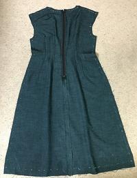 古結城紬のワンピース縫い方1 - アトリエ A.Y. 洋裁教室