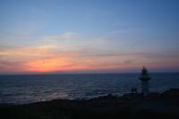 久しぶりの夕陽 - 三宅島風景