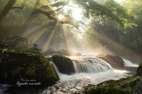 菊池渓谷の光芒について - 菊池渓谷の風景