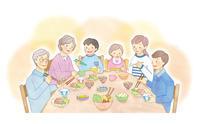 三世代家族の食事風景 - ** アトリエ Chica **