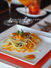チキンソテー オレンジソース~「3月のテーブルコーディネート&おもてなし料理レッスン」より - ATELIER Let's have a party ! (アトリエレッツハブアパーティー)         テーブルコーディネート&おもてなし料理教室