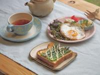 アスパラトーストの朝ごはん - 陶器通販・益子焼 雑貨手作り陶器のサイトショップ 木のねのブログ