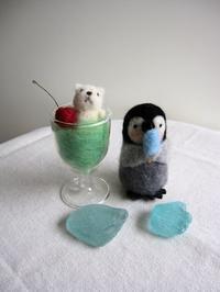 羊毛フェルト 子ペンちゃん&シロクマくん。 - こひつじ的生活~羊毛フェルトで作る小さな世界