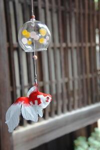 雨と風鈴金魚 - ソライロ刺繍