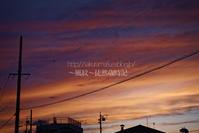 嵐の後の夕焼け空。 - ~風紋~徒然歳時記