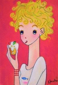 クルクル巻き毛の女の子☆ケーキをパクパク - ギャラリー I