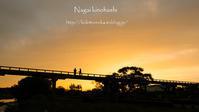 蓬莱橋 夕景 - 長い木の橋