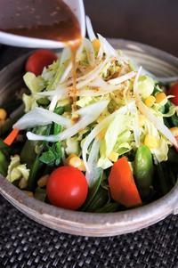 ■【春サラダ】 野菜の盛り付けのみで市販ドレッシン グ使用で簡単です♪ - 「料理と趣味の部屋」