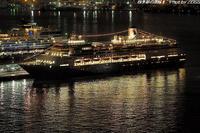 客船フォーレンダムが夜の横浜港大さん橋より出航 - 四季彩の部屋Ⅱ