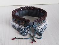 タティングレースの付け襟「秘密の裏庭」展示します☆ - 『 紙とえんぴつ。』 kamacosan. 糸とビーズのアクセサリー