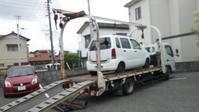 東村山市から車検の切れたパンク車をレッカー車で廃車の出張引き取りしました。 - 廃車戦隊引き取りレンジャー