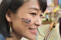 イベントで顔に張ってもらう「ペイントシール」ができました。カツオすきやき! - カツオ県民会議ブログ!!!