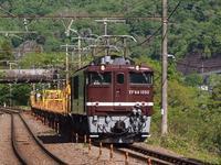 EF64-1052牽引、長野工臨返空 - 富士急行線に魅せられて…