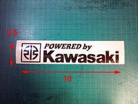 POWERED by Kawasaki - wbeat カッティングステッカー作成履歴