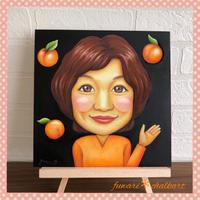 似顔絵チョークアート【あぷりこっと】様 - 色彩チョークアート*ふわり ~fuwari*chalkart~