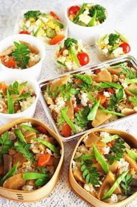 ■【連日竹の子の頂き物でまたまた鶏肉入り竹の子五目飯&ポテサラ♪】 - 「料理と趣味の部屋」