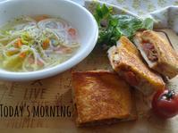 ホットサンドの朝ごはん - 料理研究家ブログ行長万里  日本全国 美味しい話