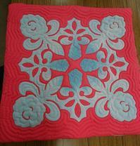 クッション、カードケース、グラスケース - ほっと一息・・~Sakura's Hawaiian QuiltⅡ