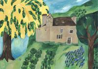 今日の絵「ミモザの庭」 - vogelhaus note