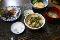 畑の野菜で4日分の夕飯 - 今夜の夕食