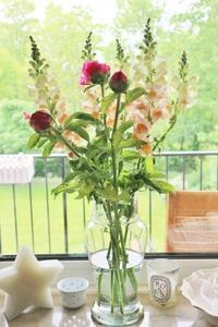 安かった芍薬とストックの花☆ - ドイツより、素敵なものに囲まれて②