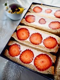 イチゴのフルーツサンド - Kitchen diary