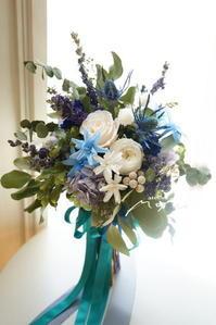 #沖縄婚用に ブルーのお花で! - momo★スタイル