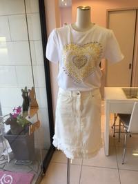 白のデニムスカート - ★ Eau Claire ★ Dolce Vita ★
