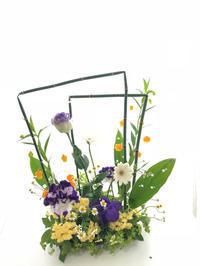トクサとストローでアレンジメント - **おやつのお花*   きれい 可愛い いとおしいをデザインしましょう♪