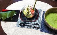 季節の和スイーツを堪能♪@池上編み物カフェ - 空色テーブル  編み物レッスン