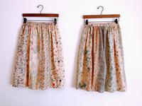紅茶染めをしたリバティの切り替えスカート 2種類 - cous cous NEW ARRIVAL